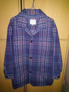 [ixi:z]藍色格仔休閒西裝外套