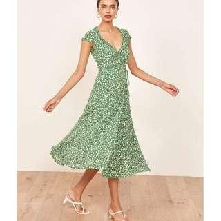 Green Wrap Around Dress (1)