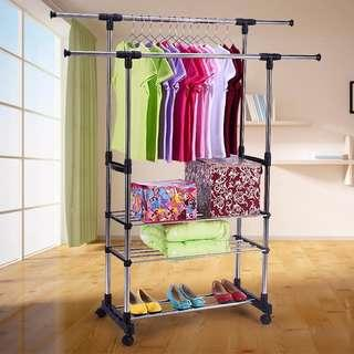 Double Pole Clothes Drying Rack