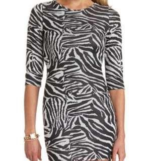'Charlotte Russe' zebra print sexy dress bought in America, size 10