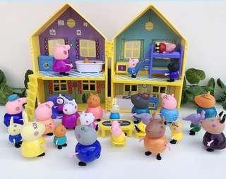 Peppa family with 17 characters set