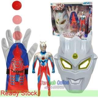 Ultraman Toy -  3 in1 Ultraman Zero Gloves With Disc Launcher/mask/18cm Ultraman