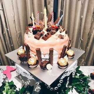 Chocolate overload rainbow cake