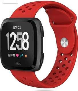 Fitbit Versa Watch Strap Band Replacement Red