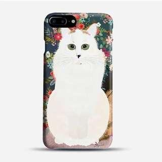 🚚 Cat and Flowers Phone Case