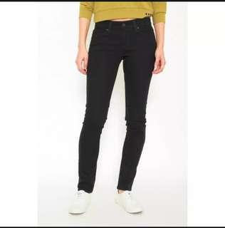 Denizen Black slim straight jeans