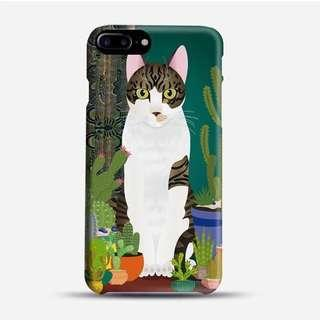 🚚 Cat and Plants Phone Case