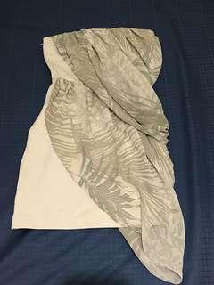 AX tube Top Dress with chiffon
