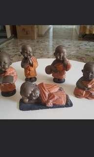 5 Boy Buddah Bronze Fugurine