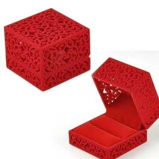 Velvet Jewelry Box Ring Engagement Gift Wedding Oriental Charm Cultural Art