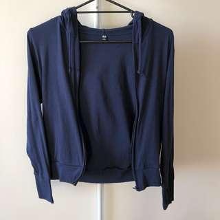 Uniqlo UV Cut Long Sleeve Full Zip Hoodie (Aus Size S)