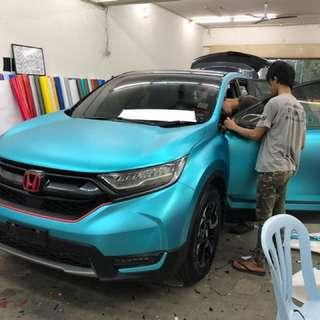 Full Car Wrap (Electric Turquoise Blue)