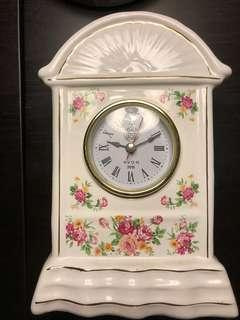 Vintage Table Clock (rose design)