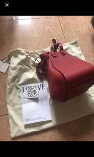 Loewe red small hammock handbag
