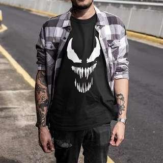 Venom T shirt Harajuku Fashion Spiderman Cotton EU Size