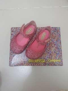 Mini Melissa Campana Pink Clear s5 12cm very hard to find vhtf minimel