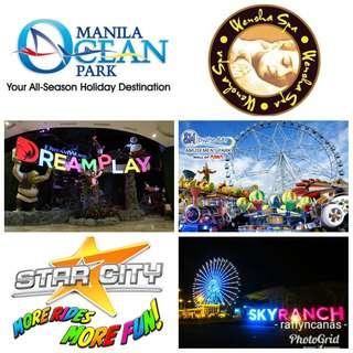 Discounted tickets (oceanpark, ek, wensha, etc)