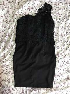 One Shoulder Little Black Dress