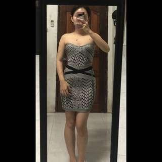 Bandage strip dress