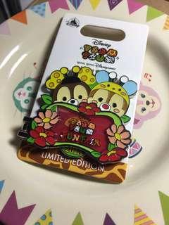 迪士尼 徽章 襟章 Disney pin tsum tsum fun fair 2018 chip and dale pin