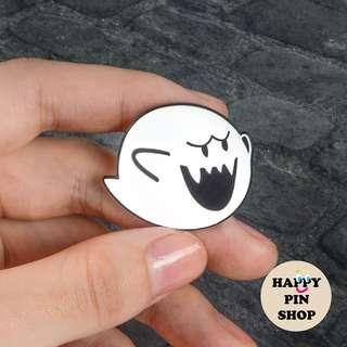 🚚 Super Mario Boo Enamel Pin (Halloween; ghost pin)