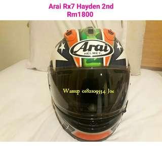 Helmet Arai Rx7 Hayden 2nd size M