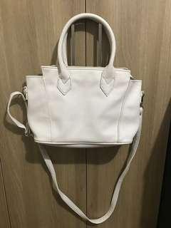 white two way bag