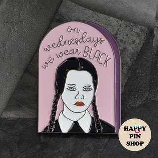 Wednesday Addams, Addams Family Enamel Pin (Halloween)