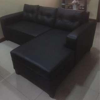 Modern leather sofa L shape (MOVING OUT SALE)