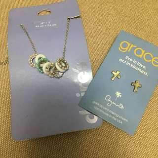 Necklace and earring bundle