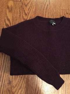 Wilfred Free Aritzia Burgandy Sweater