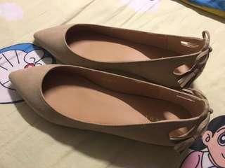 🈹Randa 米杏色平底鞋24碼🈹