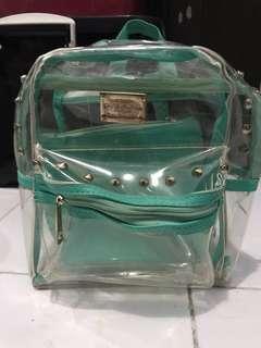 Tas ransel warna tosca dan transparant