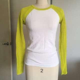 Forever 21 Long Sleeve Lime Green Knit Top.