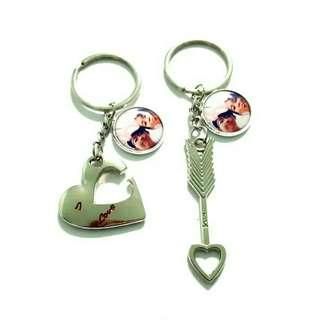 🚚 Customized couple heart and arrow keychains