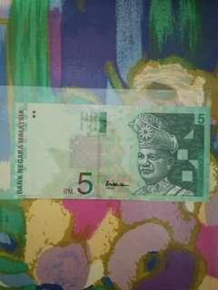 MALAYSIA RM5 10th Series Paper Note