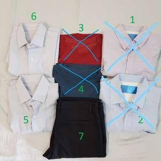 [FREE MAIL] Men Formal Collared Shirt / T Shirt / Pants