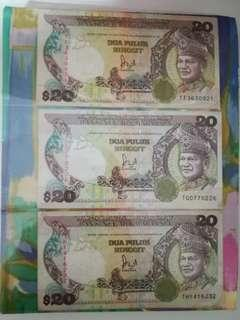 MALAYSIA RM20 6th Series Complete Prefixes