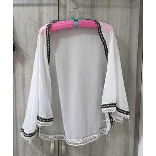 White Kimono Outerwear Cardigan
