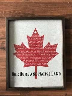 Oh Canada decor