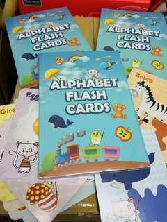 Flash card alphabet