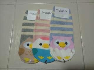 SALE Owl Sock (3 for $8.00)