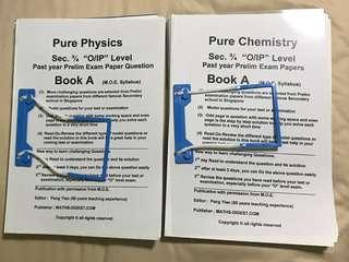 Pure Physics/Pure Chem Past Year Prelim Papers