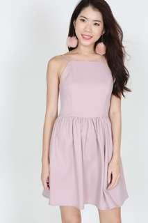 MDS Flare Cami Dress in Blush Pink