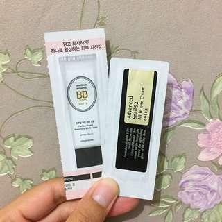 Sample etude bb cream&cosrx snail 92