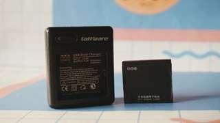 Adapter dual charger battery baterai batre xiaomi yi yicam xiaoyi