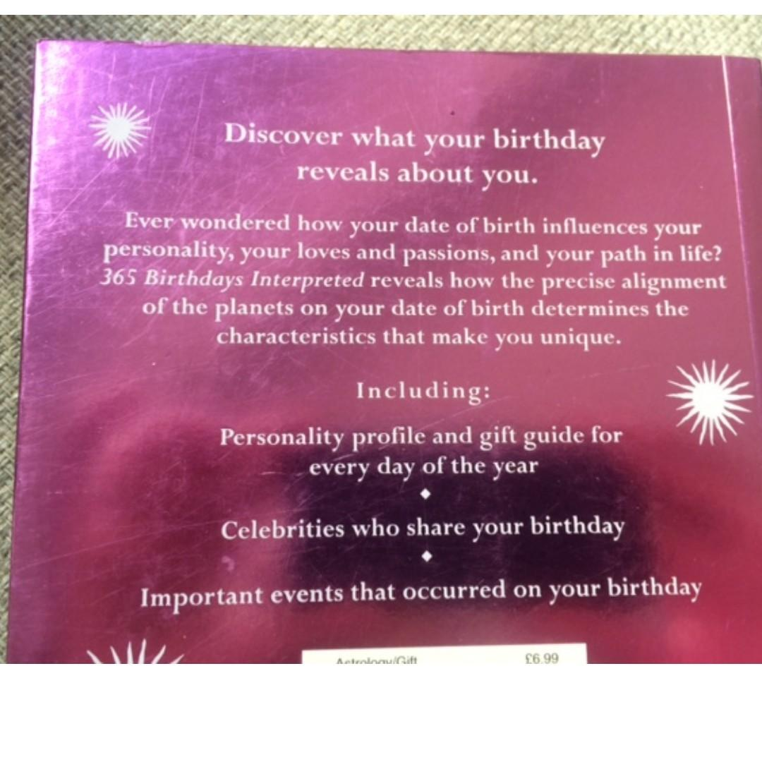'365 Birthdays Interpreted' Astrology book - by Michael Knight