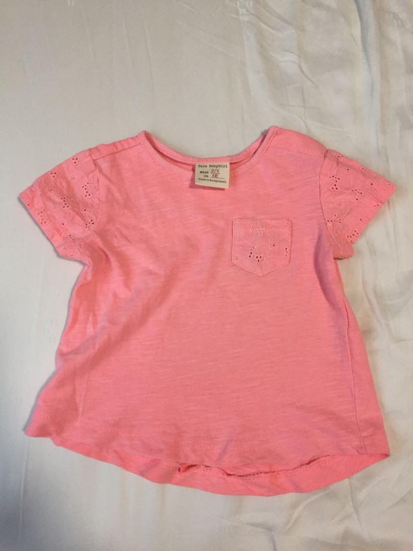 734662ed 3-6 month baby girl tshirt - Zara, Babies & Kids, Babies Apparel on ...