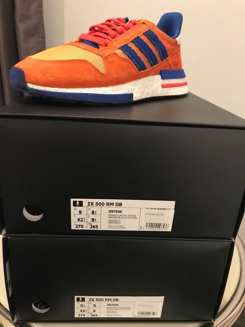 size 40 ed504 1f212 Adidas ZX 500 RM DB Goku, Men's Fashion, Footwear, Sneakers ...
