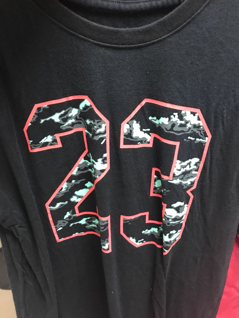 18d5a1aabde Air Jordan 23 Word camo t shirt size xl, Men's Fashion, Clothes ...